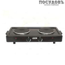 Мечта 211Т плита электрическая, 2-конфорочная, 2000 Вт, эмалированное покрытие, цвет черный