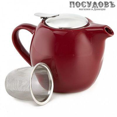 Rosario Ф19-035R чайник заварочный с фильтром, керамика, 500 мл бордовый