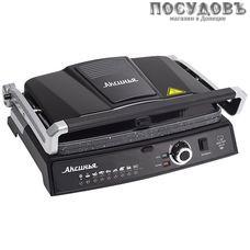 Аксинья КС-5210 гриль электрический, 2200 Вт, 1 вид сменных пластин, цвет черный