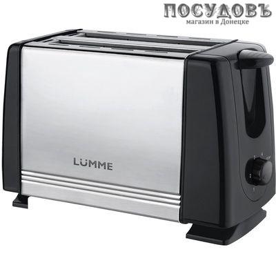 Lumme LU-1201 тостер 700 Вт, цвет черный с серебристым