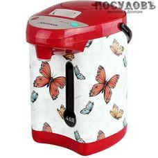 Аксинья Бабочки КС-1800 термопот 4,0 л, 800 Вт, корпус: пластик, цвет белый с рисунком