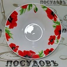 Батлер Цветущие маки SW17001 миска, керамика, Ø180×55 мм, 550 мл, Китай, без упаковки 1 шт.