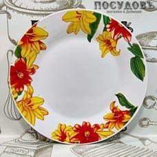 Батлер Цветущие лилии AL-17 тарелка десертная, керамика, Ø190 мм, Китай 1 шт.