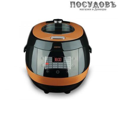 Centek CT-1471 мультиварка 900 Вт, объем 5,0 л, черный с оранжевым