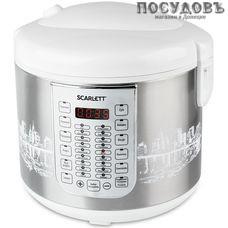 Scarlett SC-MC410S21 мультиварка 900 Вт, 30 программ, чаша 5,0 л, антипригарное покрытие, цвет серебристый
