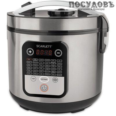 Scarlett SC-MC410S23 мультиварка 900 Вт, объем 5,0 л, стальной