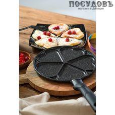 Victoria Сердечки G0224H сковорода с секциями Ø240×20 мм, алюминий литой, покрытие гранит Greblon C3+