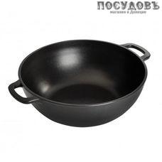 Горница Кн2811а казан объемом 4 л, алюминий литой, цвет черный, антипригарное внутреннее покрытие, без крышки, Россия