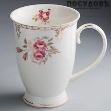 """Beatrix """"Завтрак у королевы"""" МР024L1 кружка подарочная, белая с золотым узором, 350 мл, фарфор, Китай, в подарочной упаковке 1 шт"""