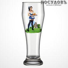 ДекоСтек Pin-up beer 303-Д, стакан пивной, Ø86×235 мм 500 мл, материал стекло, Россия, в упаковке 1 шт.