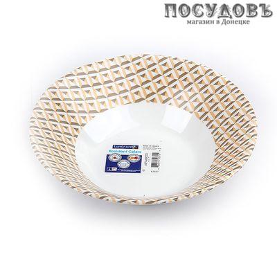 Luminarc Loft Abacco L2537 салатник, стекло упрочненное, цвет белый с рисунком, Ø180 мм, Франция 1 шт.