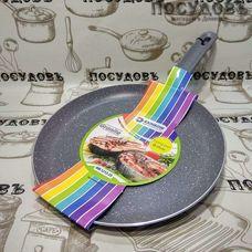 """Maestro """"Raindow"""" MR1212-25 сковорода блинная с лопаткой Ø250×20 мм, алюминий штампованный, мраморное антипригарное покрытие 1 шт"""