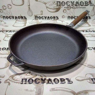 Биол 0128 сковорода без крышки, 280×45 мм, чугун литой, покрытие антикоррозийное