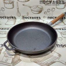 Биол 0124 сковорода без крышки Ø240×45 мм, чугун литой, без покрытия покрытие, Украина, в упаковке 1 шт