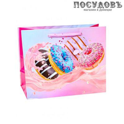 Dream cards Пончики в яркой глазури ПКП-1856 пакет подарочный XXL-420×520×160 мм, бумага, глянцевая ламинация