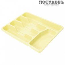 Plast Team NP1560ВН-36 лоток для столовых приборов, 5 секции, 330×260×43 мм, полипропилен, ваниль