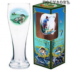 ДекоСтек Рыбалка 303-Д пивной бокал, 500 мл, стекло, в подарочной упаковке 1 шт.