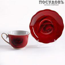 Beatrix Красная роза МЛ085Р/6 набор чайный, фарфор, в подарочной упаковке 12 пр.