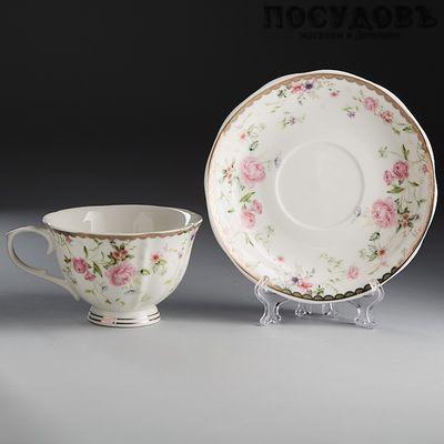 Beatrix Нэнси МХ003P/1 чайная пара, 220 мл, фарфор, Китай, чашка, блюдце, в подарочной упаковке 2 пр.