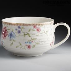 Beatrix Амелия МР026L2 бульонница, цвет белая с рисунком, 500 мл, фарфор, Китай, в подарочной упаковке 1 шт.
