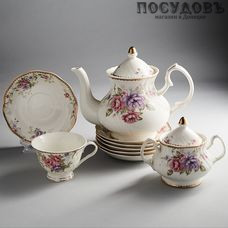 Beatrix Лоренс МР032Р/14 сервиз чайный, фарфор, в подарочной упаковке 14 пр.