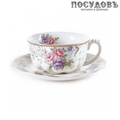 Beatrix Лоренс МР077Р/1 чайная пара, 300 мл, фарфор, Китай, в подарочной упаковке 2 п