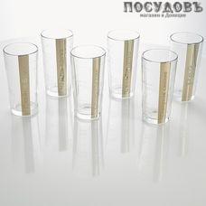 ГласСтар Книга тайн большая GN56, стакан высокий 230 мл, стекло, в упаковке 6 шт.
