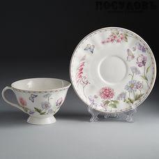 Rosario Диана Ф2-034P/1 чайная пара, фарфор, Китай, в подарочной упаковке 2 пр.