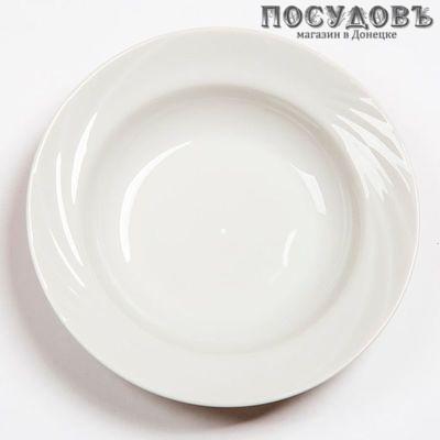 Добрушский фарфор Голубка 0с0580Ф34 тарелка глубокая, фарфор, цвет белый, Ø220 мм, 250 мл, Беларусь, без упаковки 1 шт.