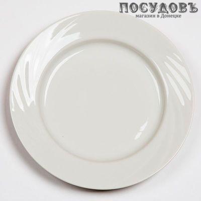 Добрушский фарфор Голубка 0с0578Ф34 обеденная тарелка, фарфор, цвет белый, Ø240 мм, Беларусь, 1 шт.