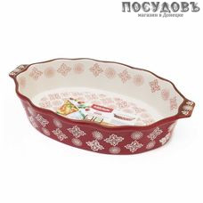"""Attribute """" Rosso """" ABK005, овальная форма для выпечки, керамика, 240×210 мм, Китай, в упаковке 1 шт"""
