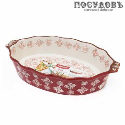 Attribute Rosso ABK005 овальная форма для выпечки, керамика 240×210 мм