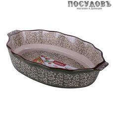 """Attribute """"Verde"""" ABK105, овальная форма для выпечки, керамика, 340×210 мм, Китай, в упаковке 1 шт"""