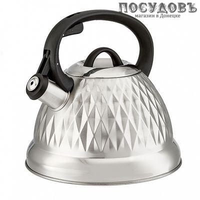 Webber BE-0596 чайник со свистком сталь нержавеющая 2,7 л