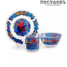 Priority Человек паук КРС-932 набор детский, стекло, Россия, подарочная упаковка 3 пр.