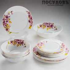 Teropal 0019М/40SK сервиз столовый, стеклокерамика, Китай, в упаковке 19 пр.