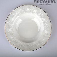 Beatrix белая роза МБ002Т2/6 тарелки глубокие в наборе, фарфор, Ø230 мм, Китай, в упаковке 6 шт.