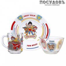 Priority Щенячий патруль КРС-1191 набор детский, стекло, в подарочной упаковке 3 пр.