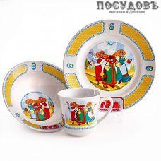 Priority Три богатыря. Царевны КРС-898 набор детский, стекло, в подарочной упаковке 3 пр.