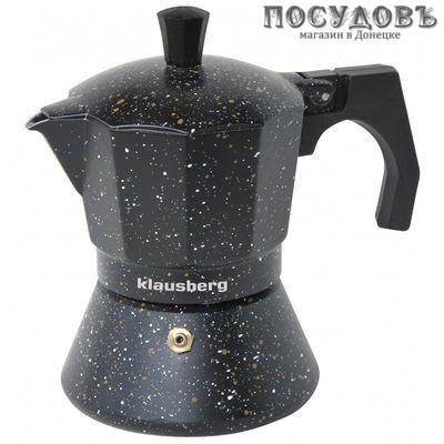 Klausberg KB-7159 гейзерная кофеварка, алюминий литой, 300 мл черный