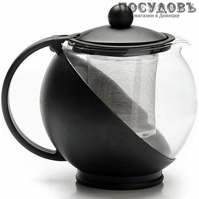 MAYER n BOCH MB-25739-3 чайник заварочный с фильтром, стекло термостойкое, 1250 мл черный
