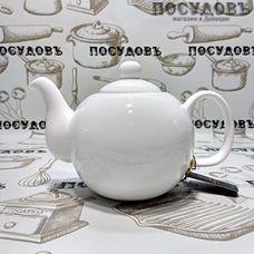 Wilmax WL994017 белый, чайник заварочный, 800 мл, фарфор, Китай, в упаковке 1 шт