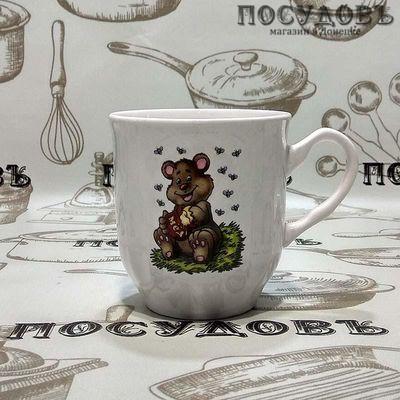"""Кружка Коралл """"Медвежонок с медом"""" 210 мл, керамика, без упаковки 1 шт"""