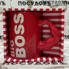 """Кружка подарочная Arti-M """"Big Boss"""" 563-011 500 мл керамика в в упаковке 1 шт"""