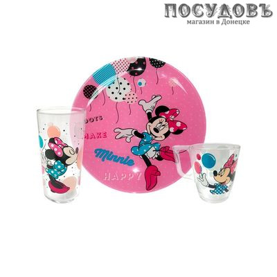 Luminarc Disney Party Minnie L4877 детский набор 3 предметов