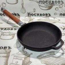 Чугунная сковорода Биол 0120 20 см съемная ручка