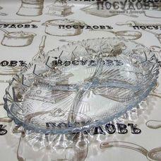 """Менажница Kaven """"Larous"""" цвет прозрачный, 280×185 мм, стекло, в упаковке 1 шт"""