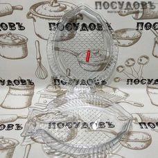 """Набор блюд Noritazeh """"Fish"""" цвет прозрачный, 240×170 мм, стекло, в упаковке 2 шт"""