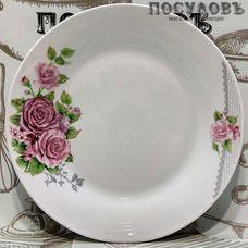 "Десертная тарелка Батлер ""Букет роз"" цвет белый с рисунком, Ø190 мм, фарфор 1 шт"
